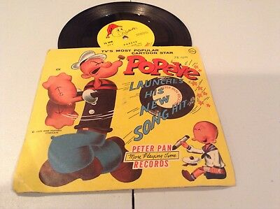 POPEYE the Sailor hit song Peter Pan Records 78rpm from 1958