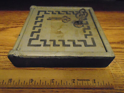 Vintage Wall Safe Door Rear Safety Deposit Box with 2 Keys - Yale & Towne