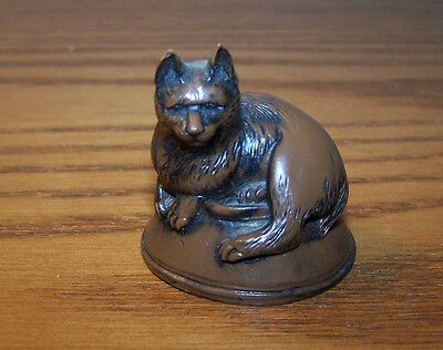 Netsuke Replica of Cat on Bowl w/ Fish Underneath