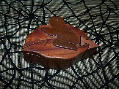Wood Frog Puzzle Trinket Box