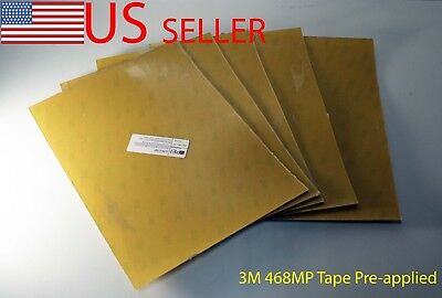 EOM PEI Sheet - 3D Printer Build Surface - 3M 468MP Tape Pre-applied - Amber