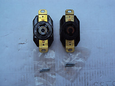 Lot of 2  Hubbell 30A 125/250V 3P 4W Twist-Lock Receptacle