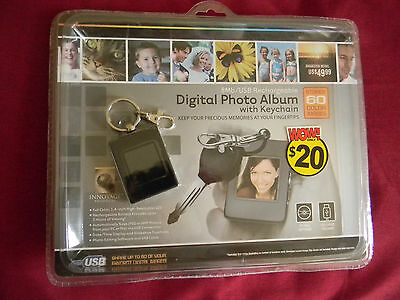 Digital photo album key chain holds 60 photos supports JPG & BMP comes with USB