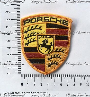 Porsche Shield Logo Bonnet Badge Embroidered Patch