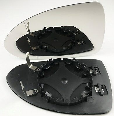 Left passenger side for Vauxhall Corsa D 06-14 wing mirror heated glass clip on