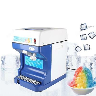 Electric Ice Shaver Machine Tabletop Shaved Ice Crusher Ice Snow Cone Maker EY*