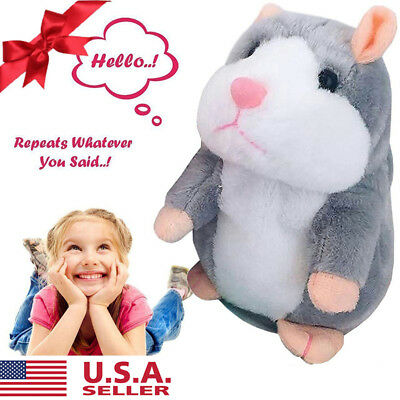 Talking Pet Hamster Electronic Animal Plush Toy Mimics and Repeats Christma Gift