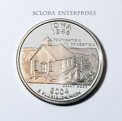 2004 S Iowa  *90% Silver Proof*  State Quarter   **free Shipping**