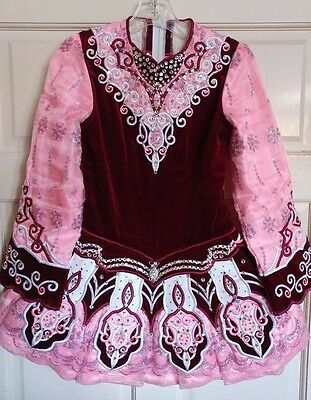 Beautiful Irish Dance Dress Feis Solo By Elevations Designs Apprx. Age 12-14