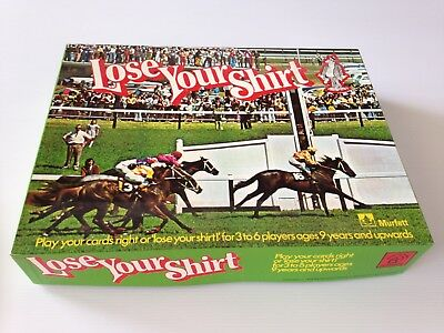 LOSE YOUR SHIRT vintage horse racing game - Murfett - complete