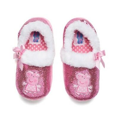 NEW NWT Peppa Pig Slippers Baby Toddler Size 7/8 M pink