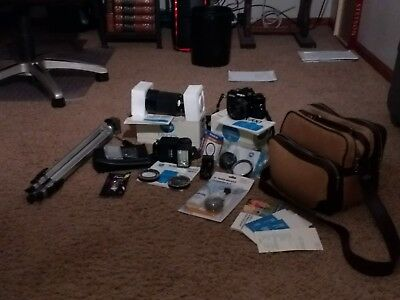 Minolta X-700 with original box, owner's manual, case, and a lot of accessories!