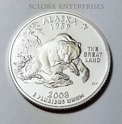 2008 S Alaska  *90% Silver Proof*  State Quarter   **free Shipping**