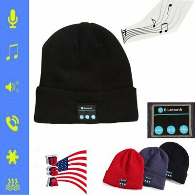Soft Warm Beanie Hat Bluetooth Smart Cap Headset Headphone Speaker Mic Hat USA