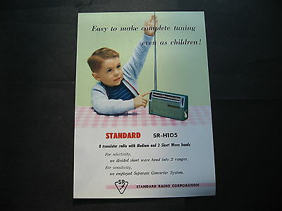Stardard  SR H105 Transistor Radio SINGLE SHEET BROCHURE