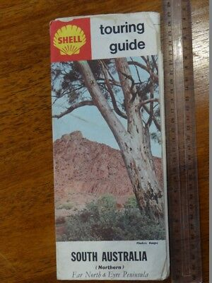 1 x OLD RETRO SHELL TOURING GUIDE SOUTH AUSTRALIA TRAVEL GUIDE / BROCHURE / MAP