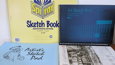 4 x large Drawing Sketch Paper Pads 106 Pages in total