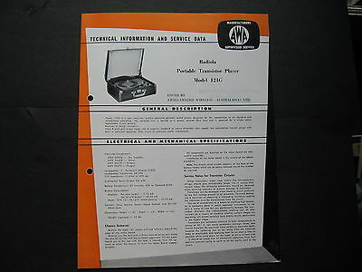 AWA Radiola Portable Player 124G BROCHURE