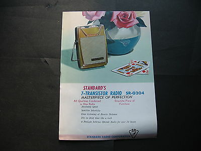 Stardard 7  Transistor Radio SINGLE SHEET BROCHURE