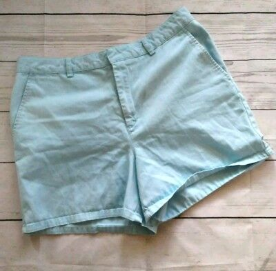 TOMMY HILFIGER Womens 12 Shorts VTG Blue Casual Flat Front High Rise Cotton A4