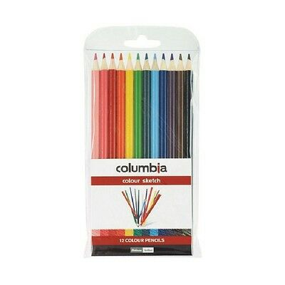 Columbia Round Coloured Pencils 12 Pack   620012WAL