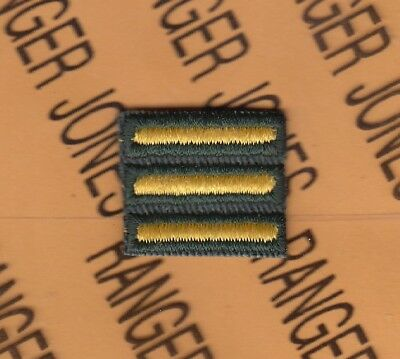 """US Army years of Service Stripes Hashmark Gold on Green 2.5/"""" patch 1 Bar 3 years"""