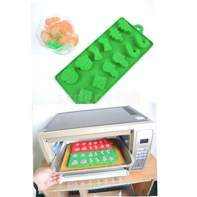 Christmas Silicone Mould Santa Snowman Jelly Baking Chocolate Ice Cube Tray