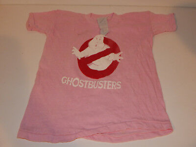 Vintage 1980's Ghostbusters Child Pink Tee T Shirt