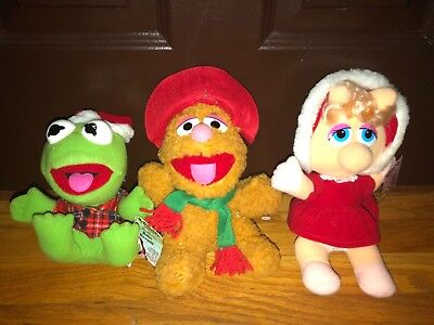 Vintage Muppets Muppet Babies Christmas Mcdonalds Lot Doll Plush Stuffed Animal