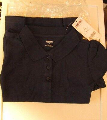 New Gymboree girls blue polo school uniform Short  Sleeve shirt size 8