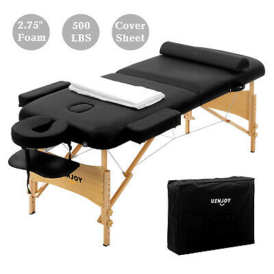 "73"" Portable White Massage Table Chair Tattoo Parlor Spa Salon Facial Bed Beauty"