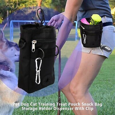 Dog Pet Puppy Training Treat Snack Bag Waist Clip Pouch Food Storage Dispenser