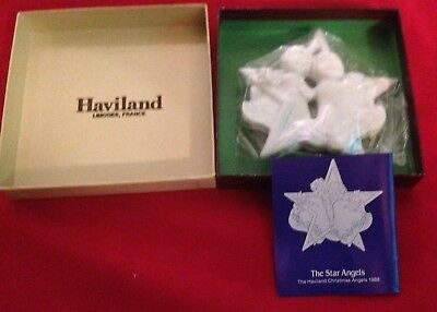 Haviland Limoges ~Star Angels~ Christmas Ornament Porcelain *1988* New With Box