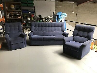 3 Piece Lounge Sofa Couch Suite