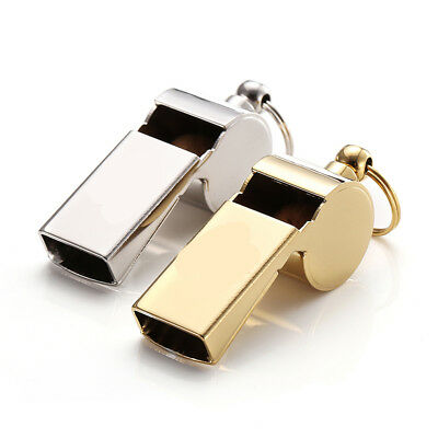 D11 2X Outside Camping Survival Rescue Metal Safe Emergency Whistle Referee M