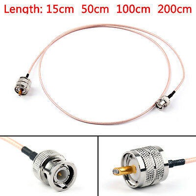 RG316 Cable BNC Male Plug To PL259 UHF Male Crimp Jumper Pigtail FPV