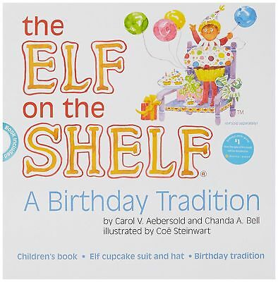 "The Elf on the Shelf ""A Birthday Tradition"" Hardcover Book & Birthday Outfit"