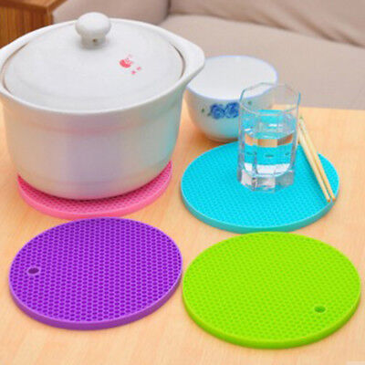 Silicone Heat Resistant Honeycomb Trivet Mat Pan Pot Non Slip Multi Use Kitchen