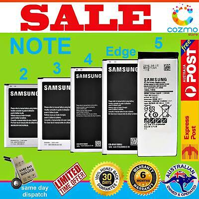 Genuine Original OEM Battery Replacement for Samsung Galaxy Note 2 3 4 Edge 5 AU