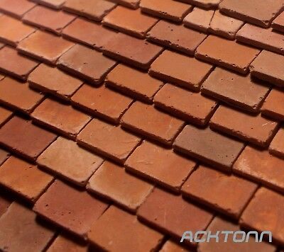 Diorama Multi-Scale Clay Roof Tile Set 500pc 1:48 1:35 Model Scenery Accessories