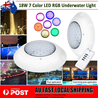 7 Color 252 LED RGB Underwater Swimming Pool Pond Bright Light & Remote Control