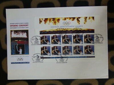 Souvenir Stamp Sheet Fdc 2000 Olympic Opening Ceremony - Cathy Freeman