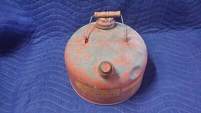 Vintage Eagle Galvanized Steel Gas Can Model 402(?) 2.5 gallon Capacity, USA
