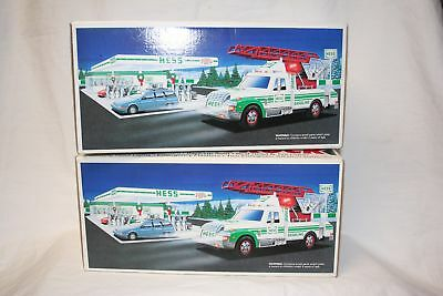 Vintage 1994 Hess Gasoline Rescue Truck Toy Truck New In Box Tested Working