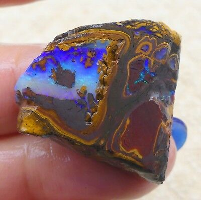 Australian Opal Koroit Solid Natural Unpolished Rough Gemstone Lapidary 8807
