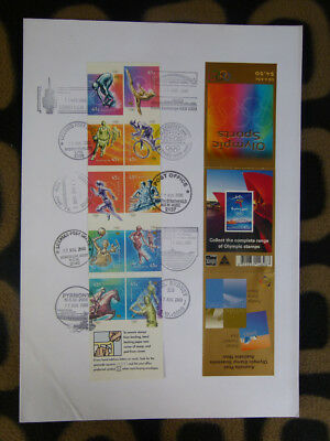 Souvenir Stamp Booklet First Day Cover Sydney 2000 Olympic Sports