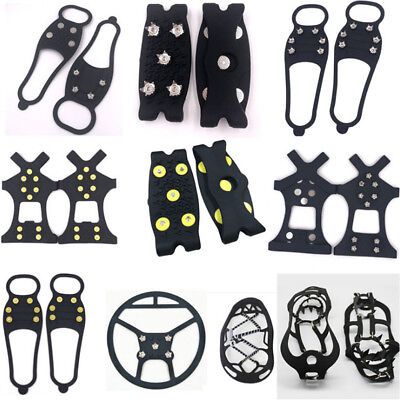 Multi Ice Snow Anti Slip Spikes Grips Grippers Crampon Cleats For Shoes Overshoe