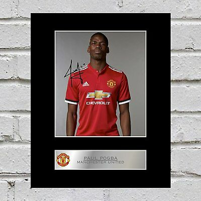 Paul Pogba  Signed Mounted Photo Display Manchester United