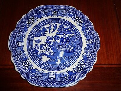 Swinnertons Staffordshire England OLD WILLOW Cake Or Bread And Butter Plate