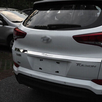 Stainless steel REAR TRUNK TAIL GATE DOOR COVER TRIM  For  Tucson 2016 2017 2018